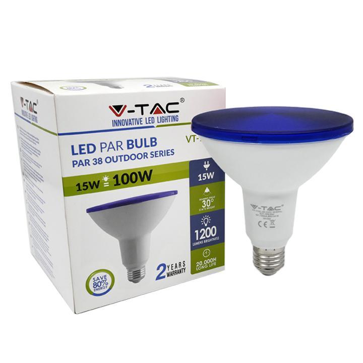 003462 LAMPADINA LED 15W PAR38 E27 IP65 BLU